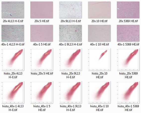 Visualizing staining variation using matplotlib